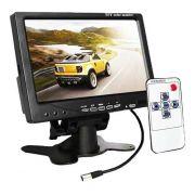 Monitor LCD Color 7 polegadas 2 entradas vídeo RCA 1 Audío e saida VGA,HDMI sem fonte 12V - JS Soluções em Segurança