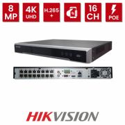 NVR Ultra HD 16 Canais PoE Hikvision DS-7616NI-K2/16P 4K
