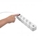 Protetor Eletrônico 4 Tomadas e 2 USB Intelbras EPE 204 USB branco (4824204) - JS Soluções em Segurança