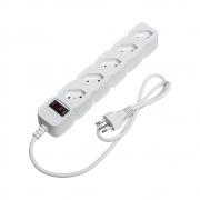 Protetor eletrônico com 5 tomadas - EPE 205 Branco (Cód. 4824200) - JS Soluções em Segurança