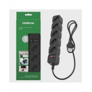 Protetor eletrônico com 5 tomadas - EPE 205 Preto (Cód. 4824201) - JS Soluções em Segurança