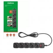 Protetor eletrônico com 5 tomadas - EPE 205+ Preto (Cód. 4824203) - JS Soluções em Segurança