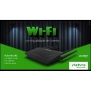 Roteador wireless smart dual band conexão ultra veloz acesso controlado Intelbras ACtion R1200