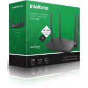 Roteador wireless smart dual band conexão ultra veloz acesso controlado Intelbras ACtion RF 1200