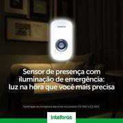 Sensor de presença com iluminação LED luz de emegência intelbras ESI 5002