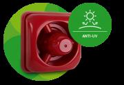 Sinalizador audiovisual convencional 12 a 24 Vdc intelbras SAV 420C - JS Soluções em Segurança
