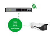 Switch 16 Portas Fast PoE  COM 1 PORTA GIGABIT + 1 PORTA SFP intelbras SF 1811 PoE   - JS Soluções em Segurança