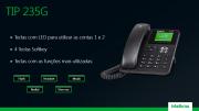 Telefone IP Giga PoE 2 contas SIP intelbras TIP 235G  - JS Soluções em Segurança