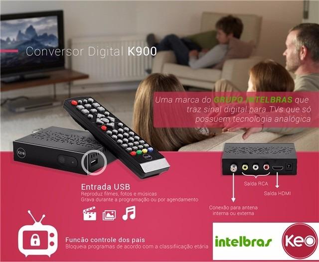 CONVERSOR DIGITAL TERRESTRE K900 INTELBRAS - JS Soluções em Segurança