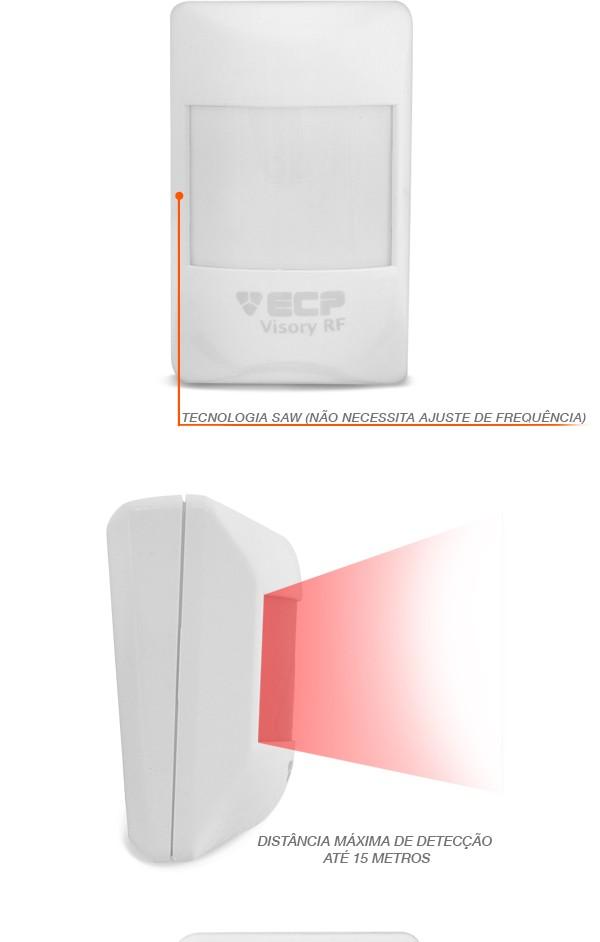 Sensor Infravermelho ECP IVP Visory RF Sem Fio Saw Pet 20 KG - JS Soluções em Segurança