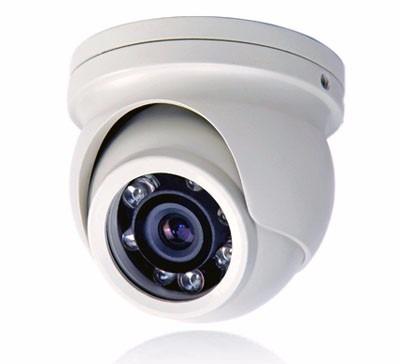 Mini Câmera Dome Infra vermelho lente 2.8mm IR CUT  900 linhas 10 leds Anti-Vandalimo - externa - JS Soluções em Segurança