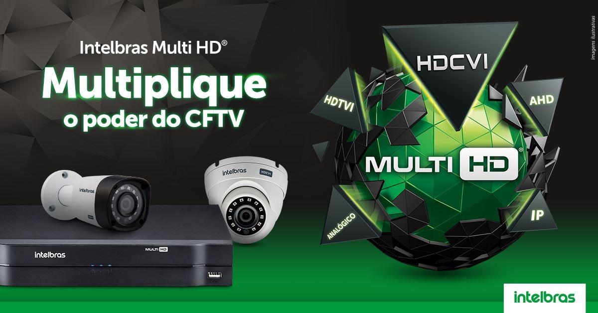 DVR Gravador 8 canais AHD,HDTVI,HDCVI,analógica + 2 canais IP =10 canais intelbras MHDX 1008  - JS Soluções em Segurança