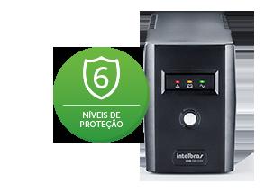 Nobreak 1440 VA 6 Tomadas 220V com 2 baterias Intelbras XNB 1440  - JS Soluções em Segurança