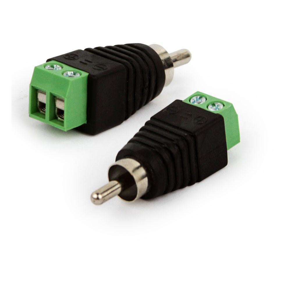 Conector RCA macho com Borne - JS Soluções em Segurança