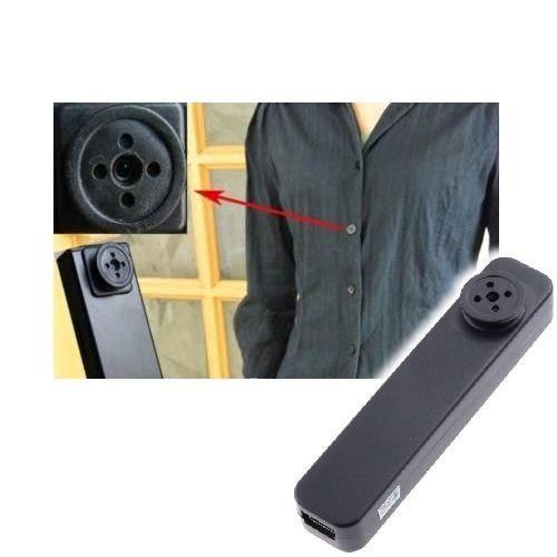 Botão de Camisa Espião 8GB - JS Soluções em Segurança