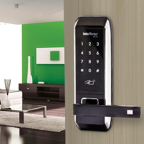 Fechadura digital embutir senha chaveiro de aproximidade intelbras FR 320  - JS Soluções em Segurança