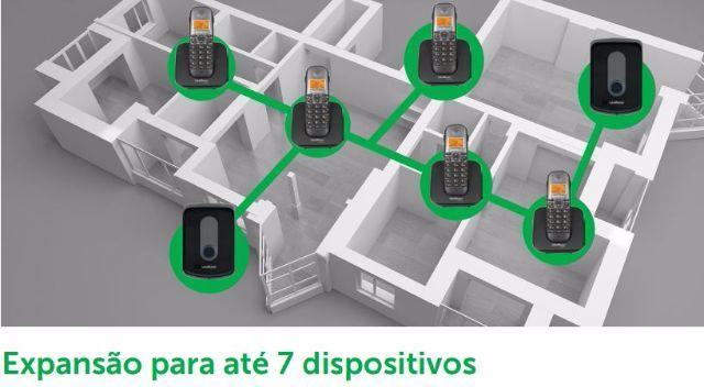 Kit Porteiro e Base linha telefônica sem fio + ramal externo Intelbras TIS 5010 - JS Soluções em Segurança