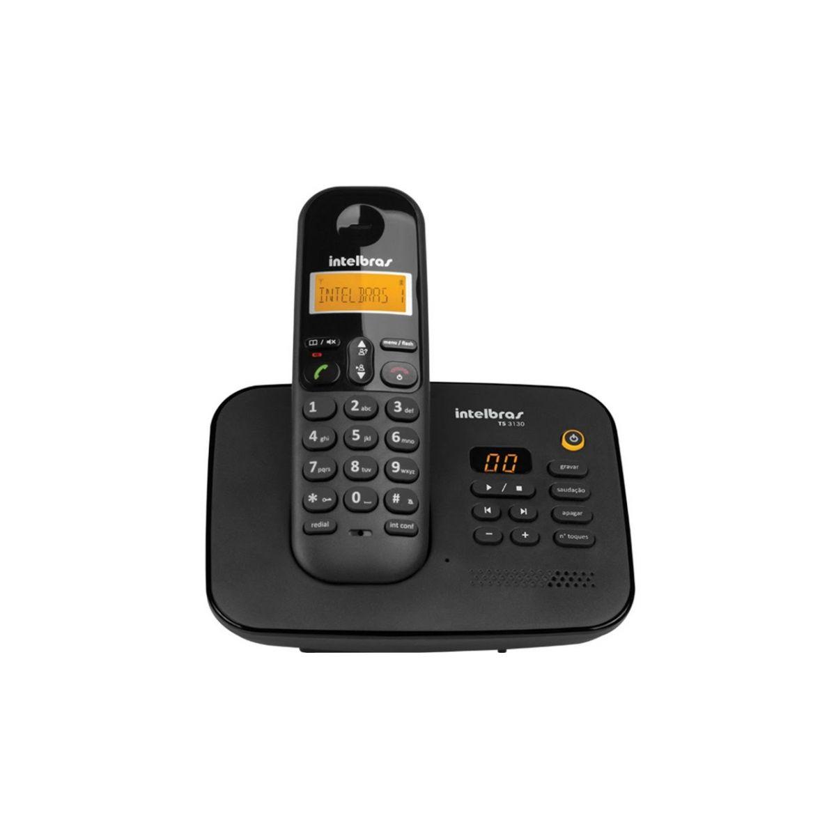 Telefone sem fio digital com secretária eletrônica Intelbras TS 3130  - JS Soluções em Segurança