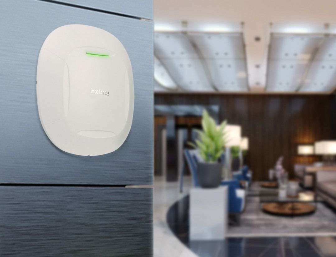 Access point corporativo Dual Band 300 Mbps (2.4 GHz) + 867 Mbps (5 GHz) 16 redes Wifi intelbras AC-AP 1210 AC   - JS Soluções em Segurança