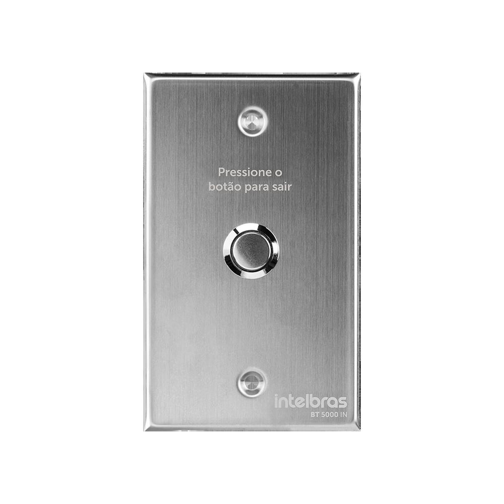 Acionador abertura inox embutir 4X2 intelbras BT 5000 IN - JS Soluções em Segurança