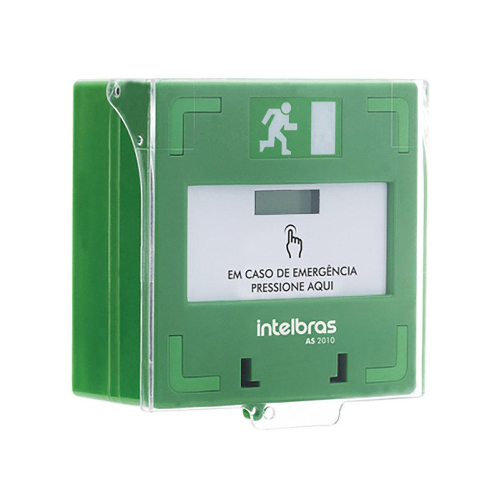 Acionador de emergência rearmável Intelbras AS 2010 - JS Soluções em Segurança