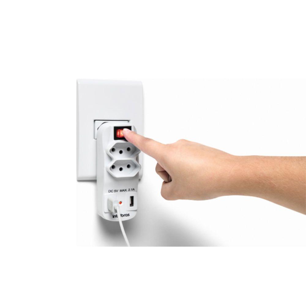Adaptador carregador USB intelbras EAC 1002  - JS Soluções em Segurança