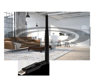 Adaptador USB Wireless com antena externa N 300 intelbras IWA 3001 - JS Soluções em Segurança