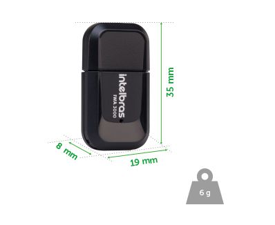 ADAPTADOR USB WIRELLES IWA 3000 INTELBRAS - JS Soluções em Segurança