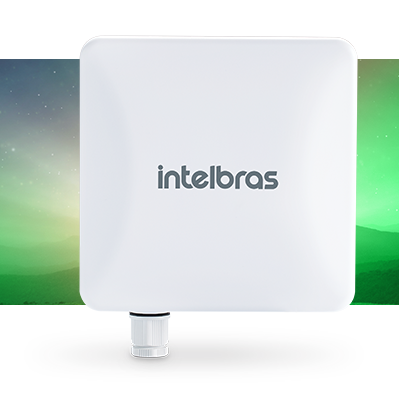 ANTENA CPE/PTP 5 GHz com 20 dBi MiMo 2x2 INTELBRAS APC 5A-20  10 a15 km - JS Soluções em Segurança