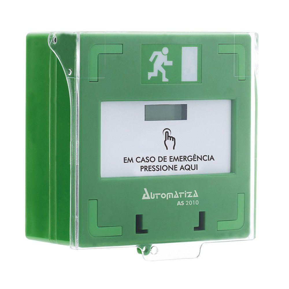 AS 2010 Acionador de emergência rearmável - JS Soluções em Segurança
