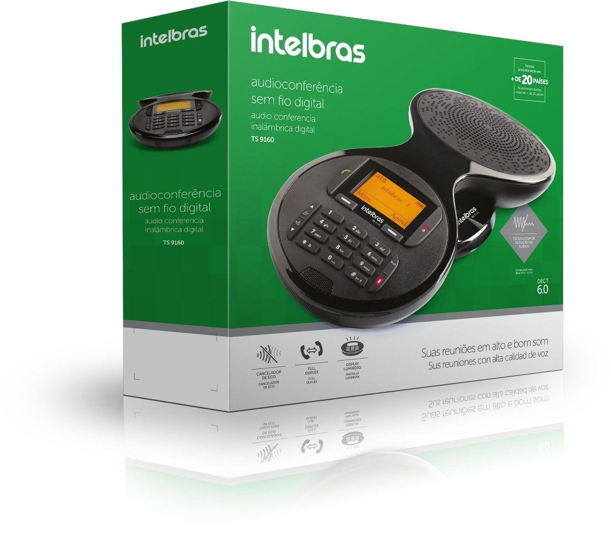 Audioconferência sem fio digital intelbras TS 9160 - JS Soluções em Segurança