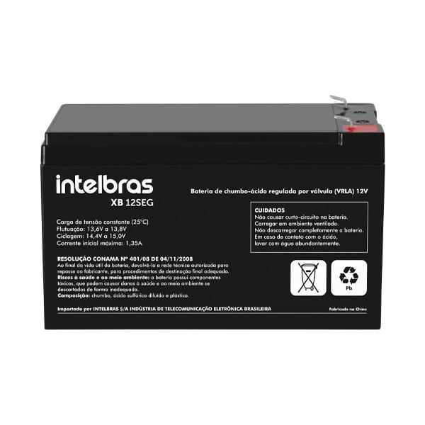 Bateria para sistemas de segurança 12V XB 12SEG intelbras - JS Soluções em Segurança