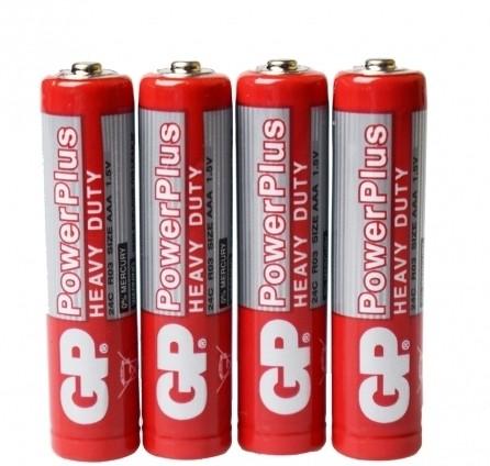 Blister 4 Pilhas AAA Powerplus 1.5 V GP  - JS Soluções em Segurança
