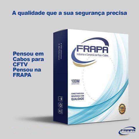 Cabo Coaxial CFTV Flex 4mm c/ alimentação 80% de malha 2x26AWG - JS Soluções em Segurança