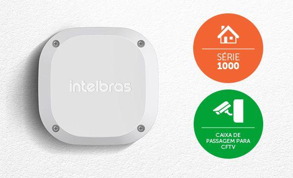 Caixa de passagem para CFTV INTELBRAS interna VBOX 1100  - JS Soluções em Segurança