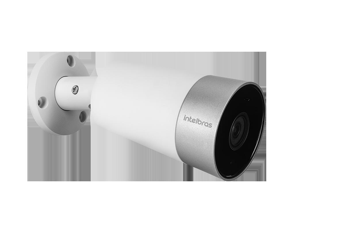 Câmera inteligente Bullet infra 30mts 103,8° de visão + microfone IP67 Wi-Fi Full HD 1080p Zoom digital 16x intelbras IM5  Alexa e Google - JS Soluções em Segurança