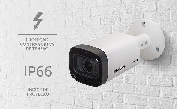 Câmera Bullet infra flex 4 em 1 varifocal 2.7mm a 12mm 720p 40mts Multi-HD CVI/ AHD/ TVI E ANALÓGICA Intelbras VHD 3140 VF G5 - JS Soluções em Segurança