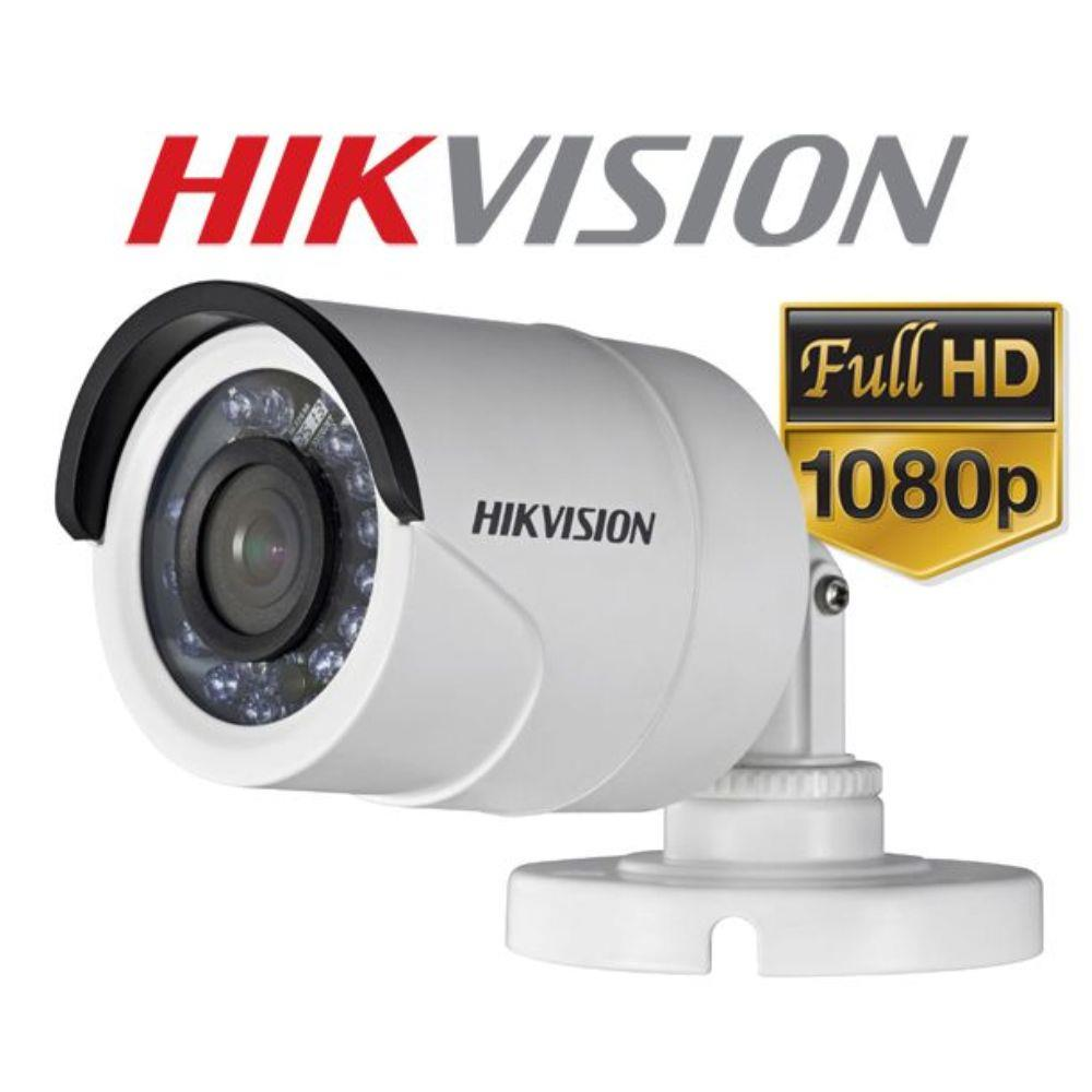 Câmera Bullet infra Turbo HD 2.0 Megapixels 2.8mm Hikvision Full HD 1920x1080p - JS Soluções em Segurança