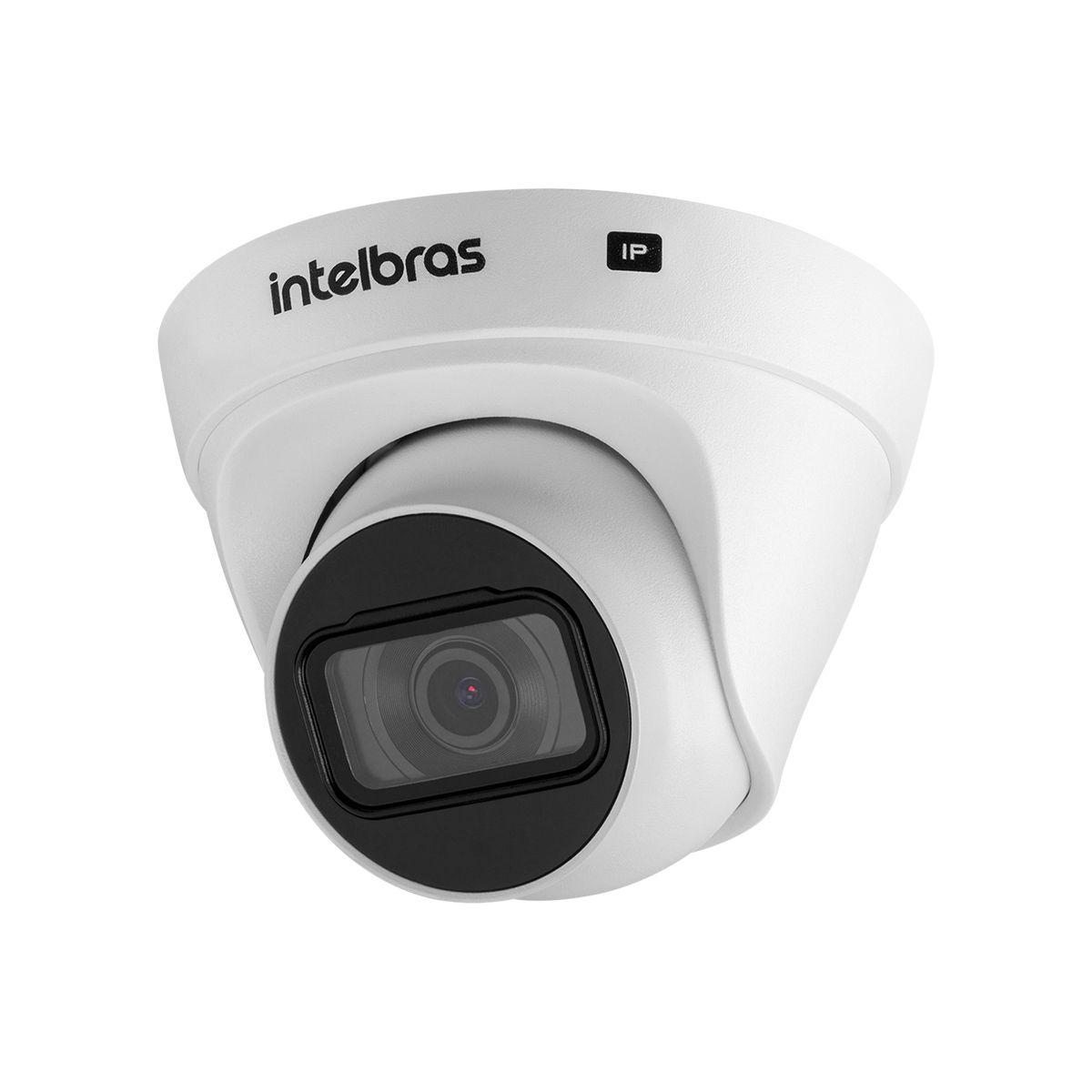 Câmera dome infra IP 1 Megapixel BLC,WDR,HLC, IP 67 20mts 2.8mm 112º 720p H.265 PoE intelbras VIP 1020 D G2 - JS Soluções em Segurança