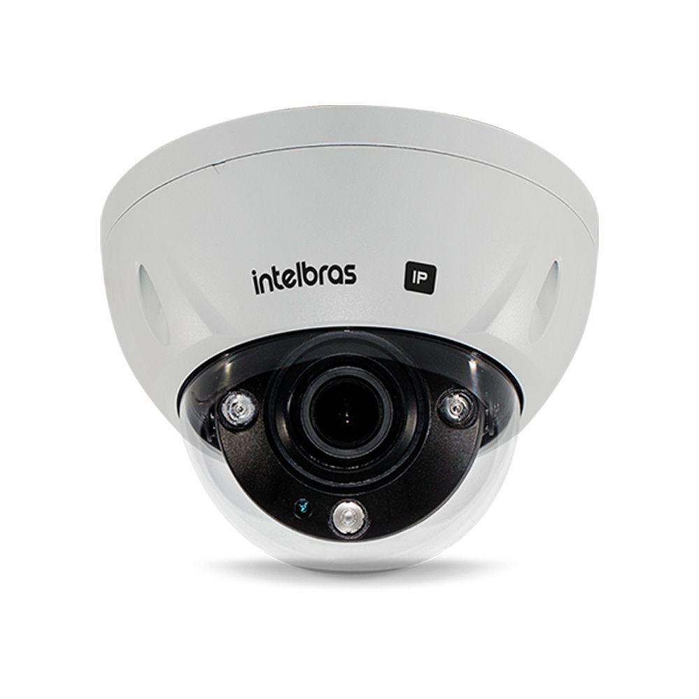Câmera Dome infra IP de reconhecimento facial Zoom motorizado 2 Megapixels Full HD P67 e IK10 PoE IR 100mts metal intelbras VIP 72100 D FACE - JS Soluções em Segurança
