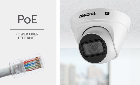 "Câmera dome infra IP HD 1.0 Megapixel 2.8mm 1/2.7"" 102º PoE/ BLC/ HLC/ DWDR IP67 Onvif H.265 intelbras VIP 1130 D - JS Soluções em Segurança"