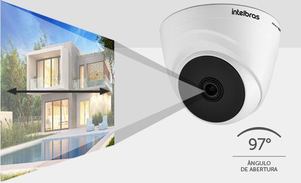 """Câmera Dome infra Multi HD HDCVI, AHD,TVI e analógica menu OSD 1/2.7"""" 2.8MM 109º 2 megapixels VHD 1220 D G5 1080p - JS Soluções em Segurança"""