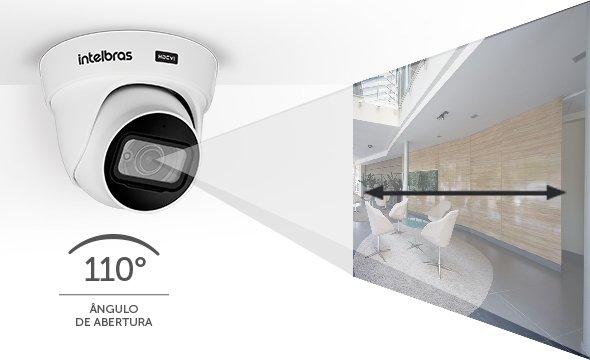 "Câmera dome infra vermelho HDCVI 1/2.7""2.8mm 8 Megapixels 2160p 110º 20mts VHD 5820 D 4K - JS Soluções em Segurança"