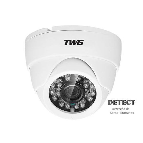 Câmera dome infra XVI/ AHD/ CVI/ TVI e CVBS 3.6mm 1/3 4x1 20mts Full HD 1080p - JS Soluções em Segurança