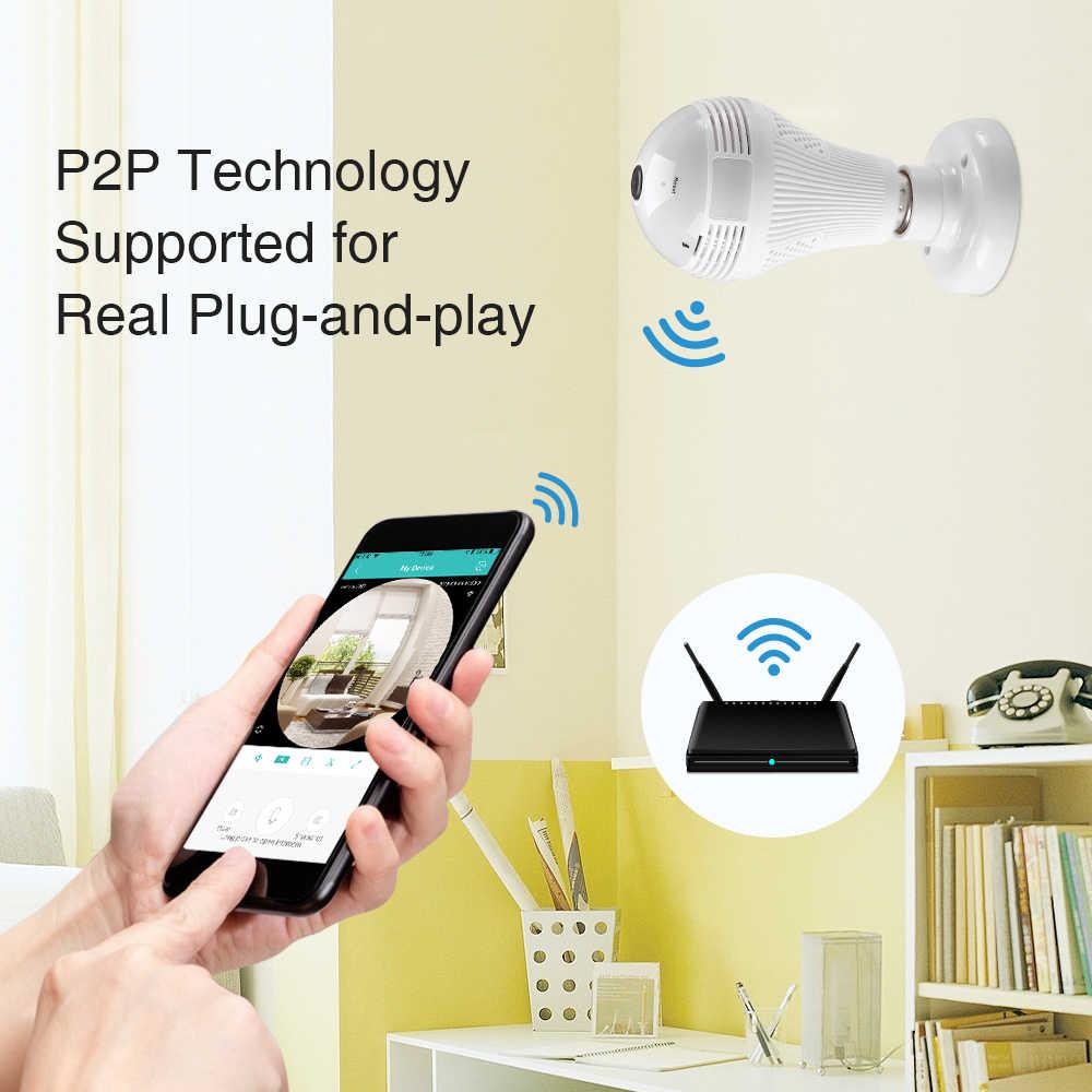 Câmera HD Panorâmica IP 360º Fisheye WiFi com audio Softy Portugues - JS Soluções em Segurança