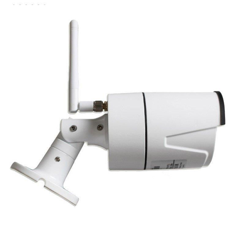 Câmera infra bullet IP wireless 1.0 Megapixel P2P SD até 128Gb IP 66 Onvif  + audio HD 720p - JS Soluções em Segurança