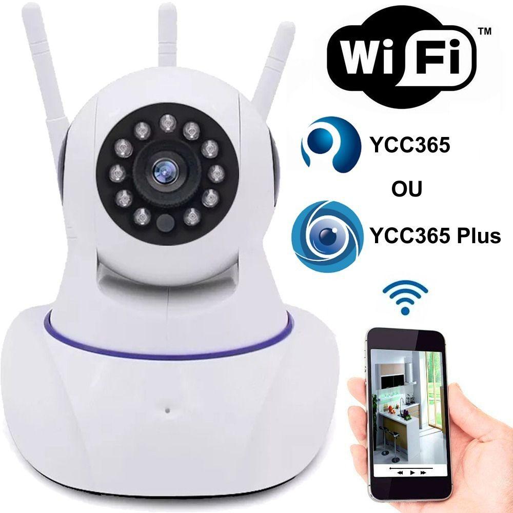 Câmera inteligente Wireless IP infra HD 1.0 megapixel 3 antenas onvif Auto Tracking - JS Soluções em Segurança