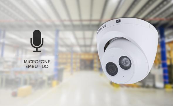 Câmera IP Dome infra Full HD H.265 intelbras com microfone PoE 50mts VIP 3250 MIC 1080p - JS Soluções em Segurança