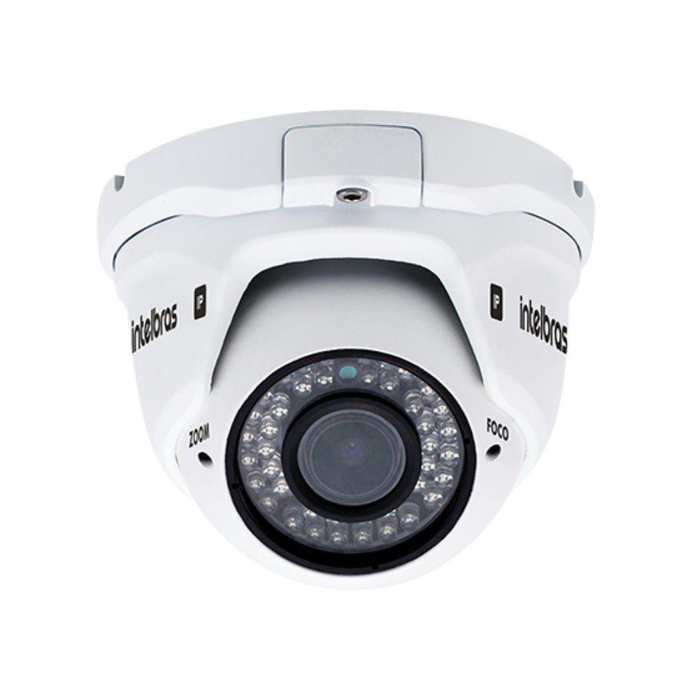 Câmera IP dome varifocal HD 720p 30mts  2.8mm à 12 mm intelbras VIP 1130 D VF  G2 - JS Soluções em Segurança