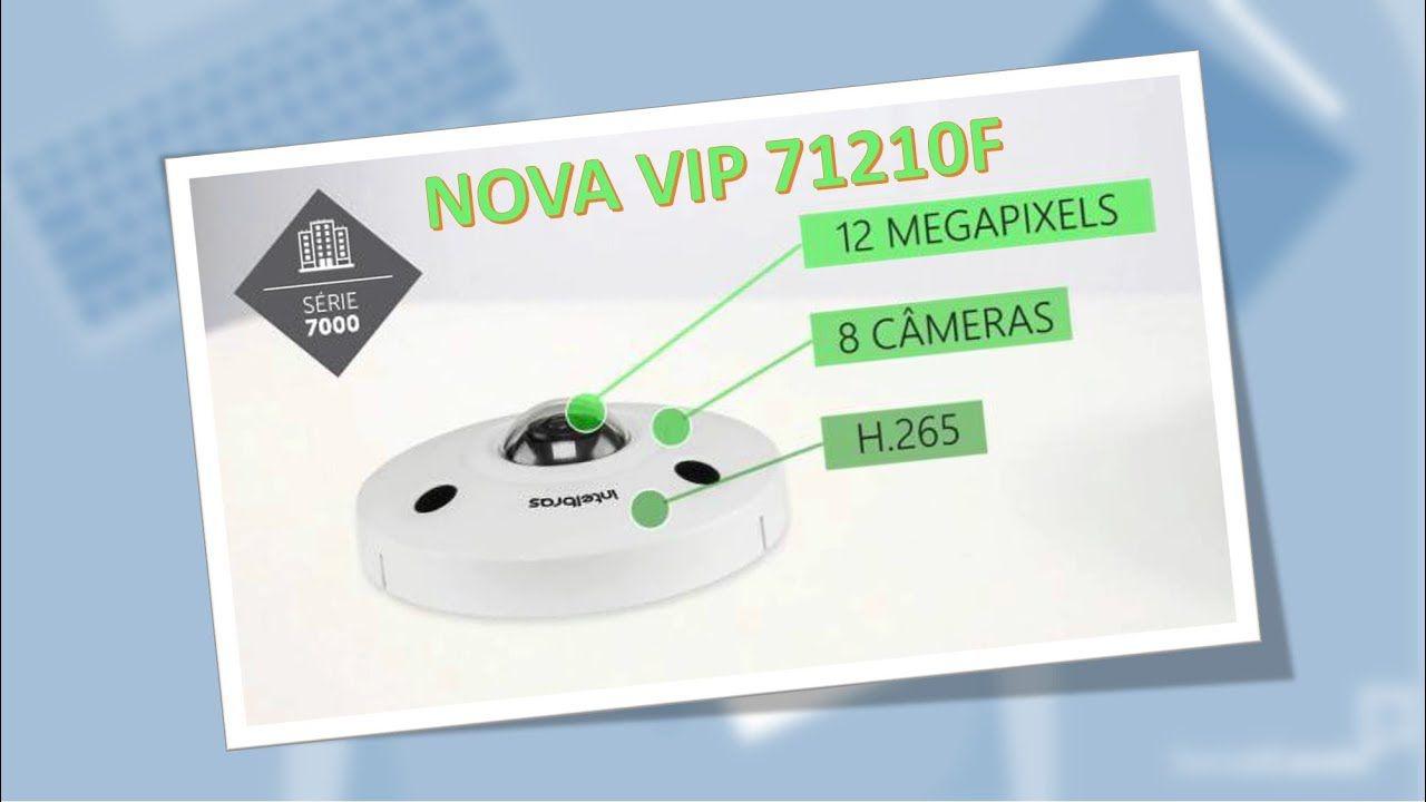 Câmera IP Fisheye intelbras 12 megas linha virtual, cerca virtual e mapa de calor, audio, BLC, WDR, HCL, PoE intelbras VIP 71210 F - JS Soluções em Segurança